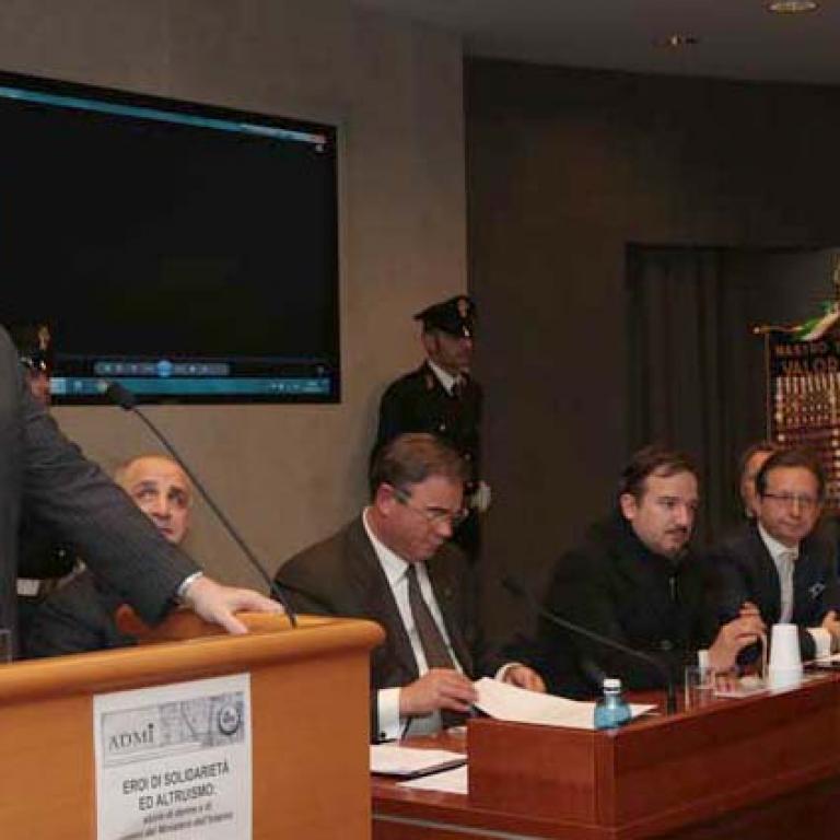Prefetto Riccardo Compagnucci, Capo Dipartimento delle Politiche del Personale dell'Amministrazione civile e per le risorse strumentali e finanziarie, durante il suo intervento